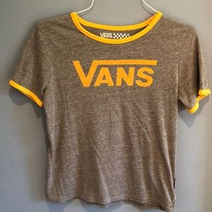 1a71a6ae Gray & Yellow Vans Tee